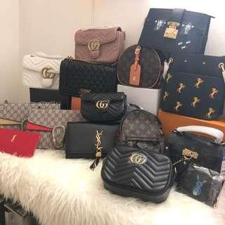 All in stock bags brand new