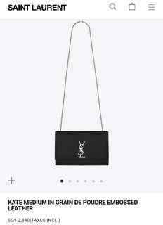 🚚 Authentic YSL Kate Medium Sling Bag - Black Caviar Leather + Silver Hardware