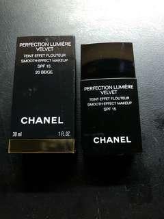 正品 CHANEL Perfection Lumiere Velvet 粉底液