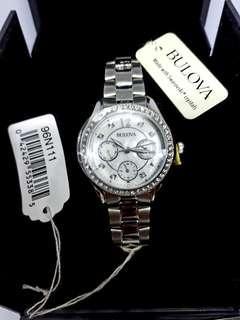 BNWT Authentic BULOVA Women's Swarovski Analog White Quartz Watch