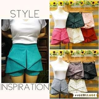 Origami Layered Shorts