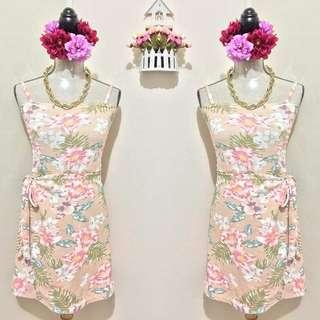 Floral Wrap Around Dress