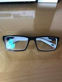 Black Glasses with White Interior