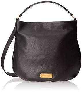 Authentic MARC BY MARC JACOBS Hiller hobo bag in black