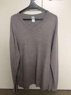 Oversized Grey Knit Jumper