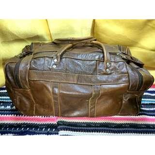 (NEGOTIABLE) Genuine Leather Brown Unisex Dufflebag