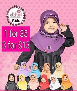 (PO) Shina Toddler Instant Tudung