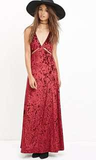 New Gorgeous Burgundy Dress (S-M) -with tags