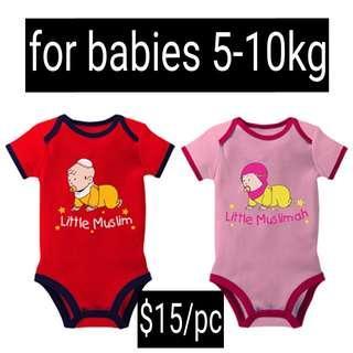 (PO) NurTAQWA Islamic Baby Romper 5-10kg