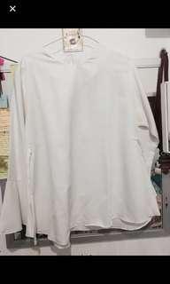 Blouse white atasan putih