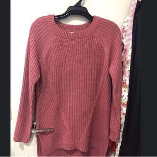 Brand new rose sweater