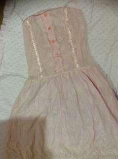 Mng Ruffles lace sleeveless dress