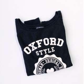 ♥ Terranova Black Oxford Pullover
