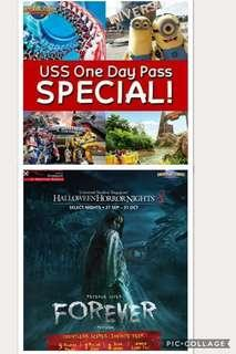 Uss Fixed Date or Uss HHN8 Admission Eticket