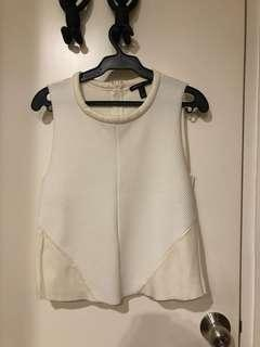 Mango Suit Sleeveless White Top (XS)