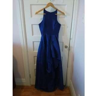 XS Navy Blue High Low Dress