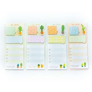 SOLDOUT Mini Cactus To Do list Post it Set