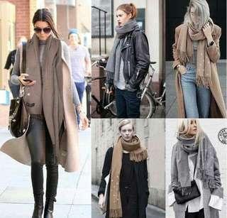 🚚 澳洲 -圍巾界的愛馬仕- YPL 變色星空羊絨保暖圍巾