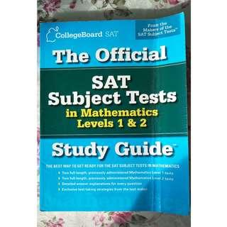 🚚 The Official SAT Subject Tests in Mathematics Level 1 & 2 Study Guide by CollegeBoard SAT