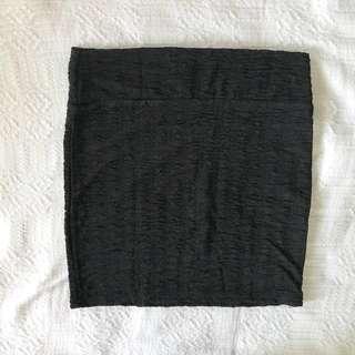 Cotton On Black Textured Bandage Skirt