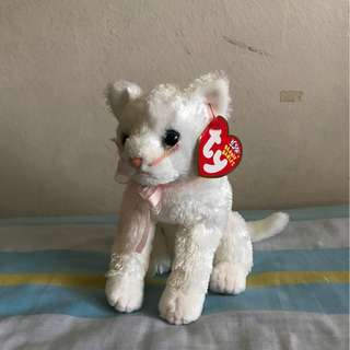 Ty Beanie Babies Fancy White Cat bd1d72a9d16f