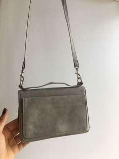 Grey Suede Wallet/Clutch/Purse