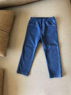 🚚 Lativ男女童針織牛仔長褲