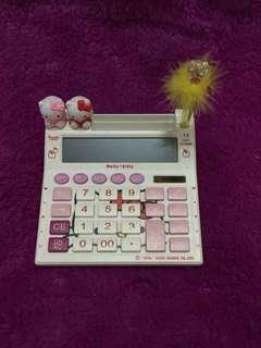 Kalkulator 12 Digit Hello Kitty with pen