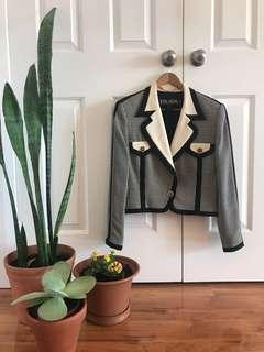 Escada Houndstooth Vintage 80s Jacket