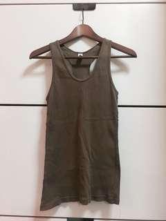 American Apparels Olive Razorback Top M to L size