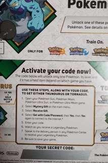 Pokemon Codes (Thundurus or Tornadus)