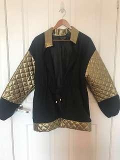 Gold quilted parka jacket vintage