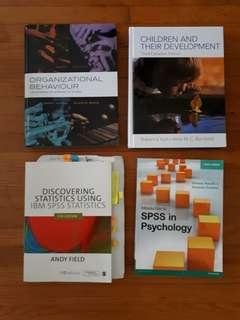 Psychology Textbooks in Perfect conditon