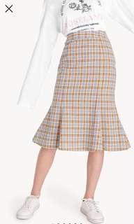 Pomelo plaid skirt