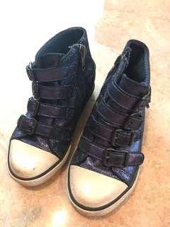 Ash Metallic Blue HighTop Sneakers Rock Punk EU26