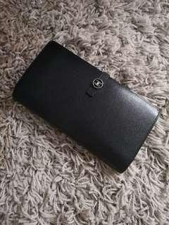 CHANEL Leather Large Long Purse