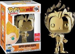 Dragon Ball Z - Gold Vegeta Pop! Vinyl Figure (2018 Summer Convention Exclusive)