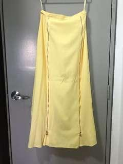 Aere Long Skirt in Yellow