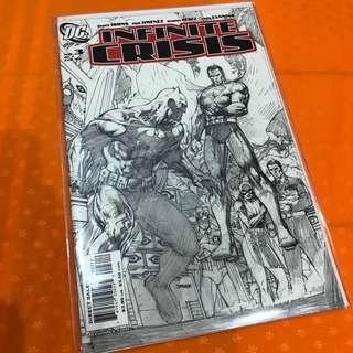 DC Comics Infinite Crisis #3 Sketch Variant Cover Superman Batman Justice League Jim Lee