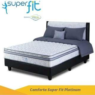 Kasur Comforta Super Fit Platinum 160x200 Komplit Set