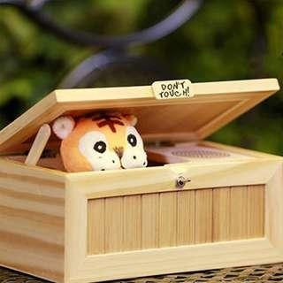 Useless Box Cute Tiger Funny Toy #Gift #Boy #Kids #Interactive toys #Stress-Reduction #Desk Decoration #CAROUPAY