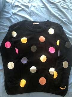 Size 10 black spotted jumper - perfect condition