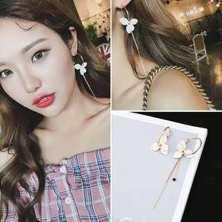 Korean Flower Earrings White Premium Quality