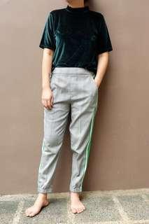 Green checked pants