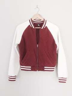 Glassons burgundy cotton jacket size M