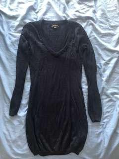 Size 10 Bluejuice navy blue v-neck knit sweater dress