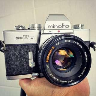 [MINT]Minolta SRT101+50mm F1.7 *Professionally Serviced* (2903585)