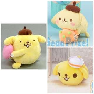 [Juniorcloset] 🆕 Authentic Sanrio Pompompurin valentine pompompurin and ice cream plushie From$5 Fog heart