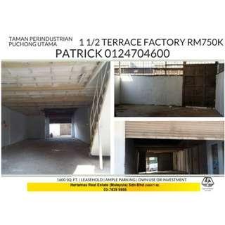 1.5 FACTORY TAMAN PERINDUSTRIAN PUCHONG UTAMA