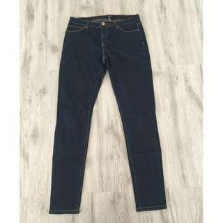 Forever 21 Ladies Dark Blue Skinny Jeans